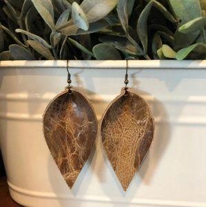 Jewelry - Genuine handmade leather earrings